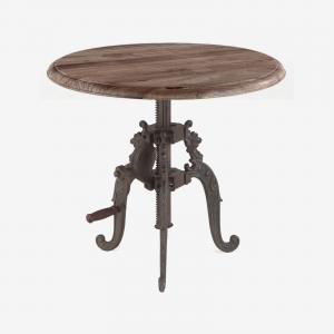 Adjustable Round Side Table