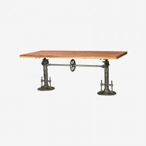 Wood Wide Table Heavy Twin Base
